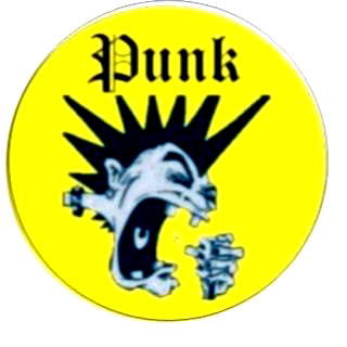 Punk gelb (Button)