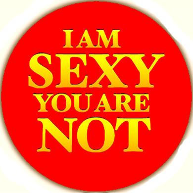 I am sexy you are not Button
