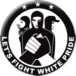 Let's fight white pride Button
