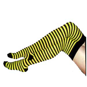 Overknees (black/yellow)